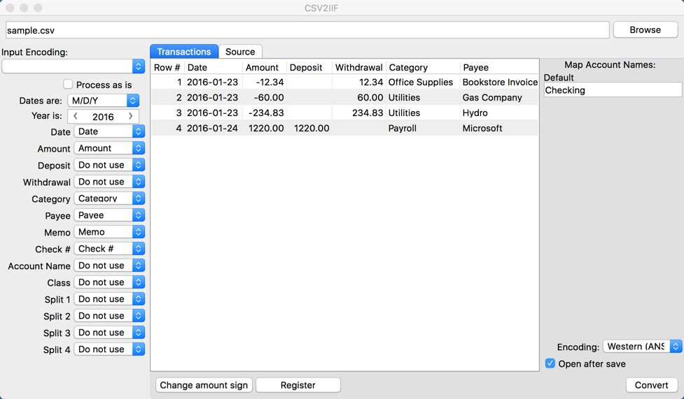 See more of CSV2IIF for Mac