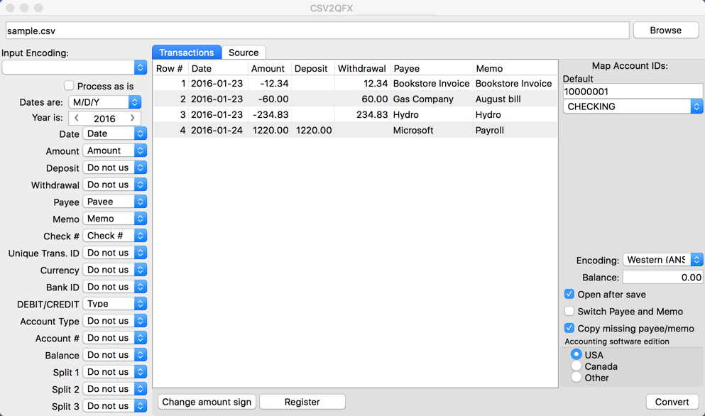 See more of CSV2QFX for Mac